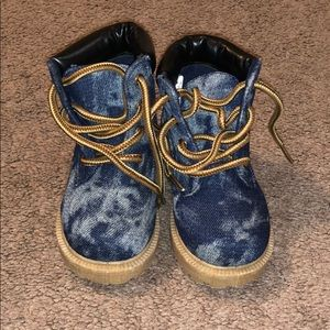 Jean Material Timb Like Boots